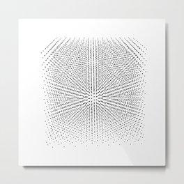 Diamond lattice Metal Print
