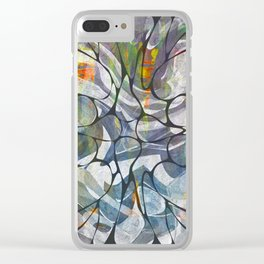 Abstract Flower Pattern Clear iPhone Case