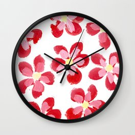 Posey Power - Red Multi Wall Clock