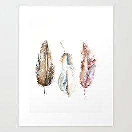 Boho FEATHERS Art Print