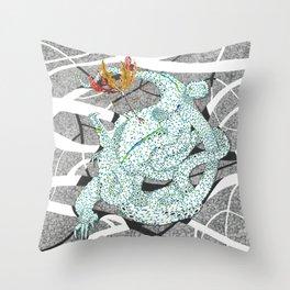 Zmiy (Three-Headed Dragon) Throw Pillow