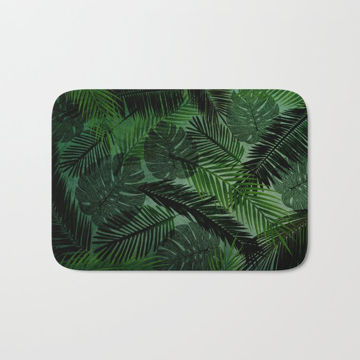 Green Foliage Bath Mat