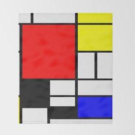Mondrian Art Throw Blanket