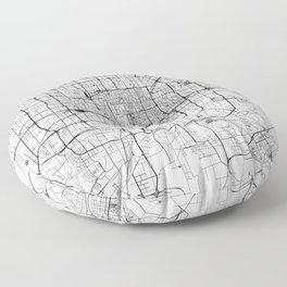 Beijing White Map Floor Pillow