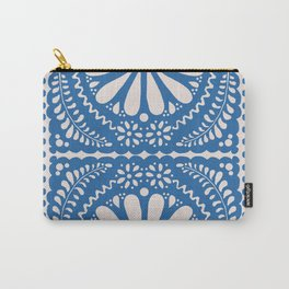 Fiesta de Flores Blue Carry-All Pouch