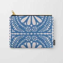 Fiesta de Flores Blue Carry-All Pouch