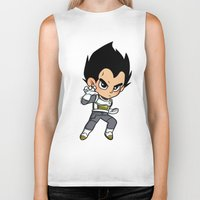 vegeta Biker Tanks featuring Vegeta ROF by LexieArtz