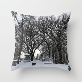Haunted Winter Throw Pillow