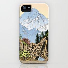 MOUNT LARRABEE WOOD PILE iPhone Case
