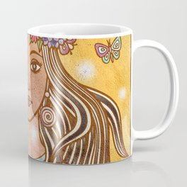 Flower Crown Girl Coffee Mug