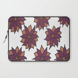 Holiday Two-Toned Flowers Laptop Sleeve