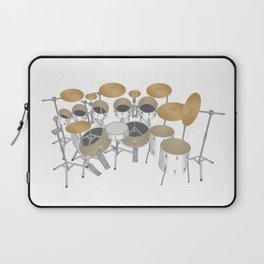 White Drum Kit Laptop Sleeve