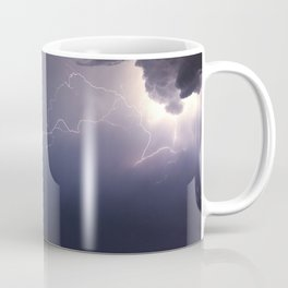 Dramatic Storm Clouds background. Lightning in the clouds. Night Clouds. Coffee Mug