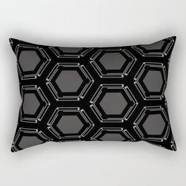 Technologic Gray Rectangular Pillow