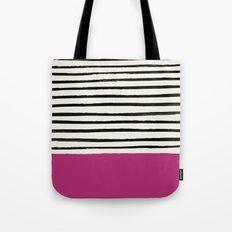 Raspberry x Stripes Tote Bag