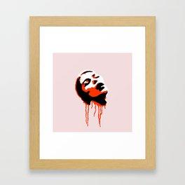 HORROR HEAD Framed Art Print