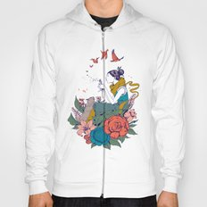 woman and flowers Hoody