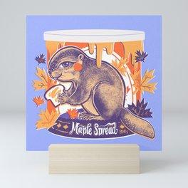 Beaver in a can Mini Art Print