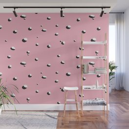 Lakeside Late Afternoon (pink) Wall Mural