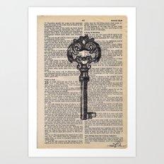 Key vintage #4 Art Print