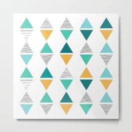 Triangles 1 Metal Print
