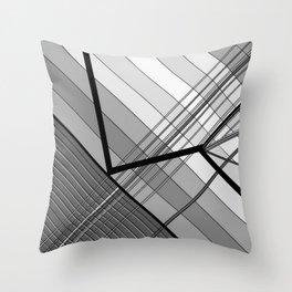 Gray Geometry 2 Throw Pillow
