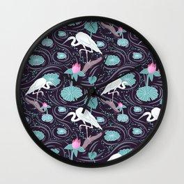Dance of the Egret Wall Clock