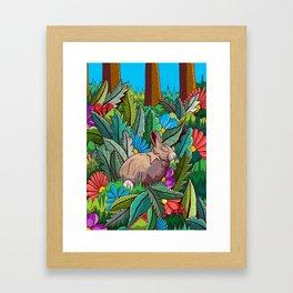 The rabbit of the woods Framed Art Print