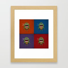 Screaming Turtles Framed Art Print