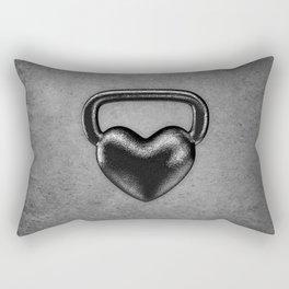 Kettlebell heart / 3D render of heavy heart shaped kettlebell Rectangular Pillow