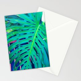 Neon Monstera Stationery Cards