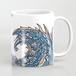 Wandering Abstract Line Art 23: Blue Coffee Mug