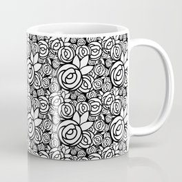 Black & White Rosettes Coffee Mug