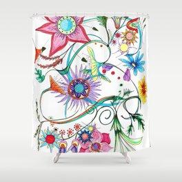 Gipsy garden - hand drawn Shower Curtain