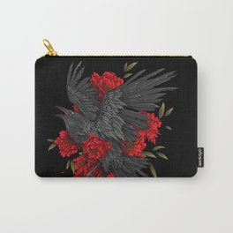 Raven with flowers Carry-All Pouch