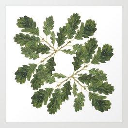 Oak leaf ensemble Art Print