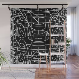 Monochrome Wires Wall Mural