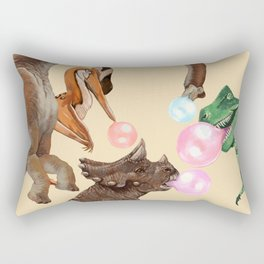Playful Dinosaur Bubble Gum Gang Rectangular Pillow