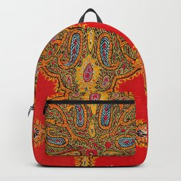 Kirman  Antique South Persian Embroidery Print Backpack
