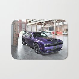 Purple Challenger Hellcat Demon Redeye Bath Mat