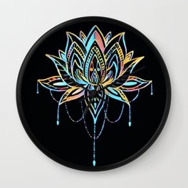 Pastel Lotus Wall Clock