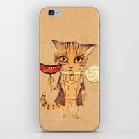 cheshire cat iPhone & iPod Skins featuring Cheshire Cat by baba yagada