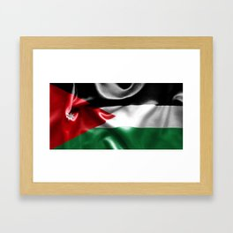 Jordan Flag Framed Art Print