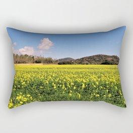 yellow flower meadow Rectangular Pillow