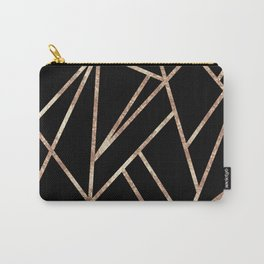 Classic Black Rose Gold Geo #1 #geometric #decor #art #society6 Carry-All Pouch