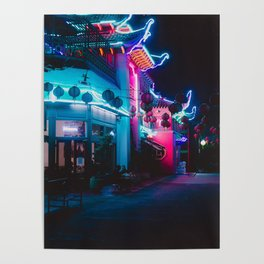 Neon Building Poster