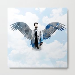 Supernatural Castiel - Misha Collins Metal Print