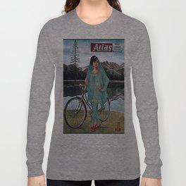 Vintage poster - Atlas Bicycle Long Sleeve T-shirt