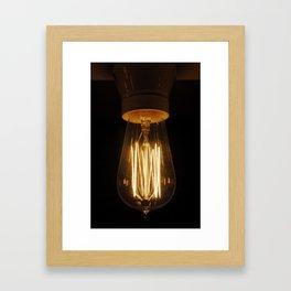 Swedish Lightbulb Framed Art Print