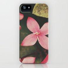 Magenta Flowers iPhone (5, 5s) Slim Case